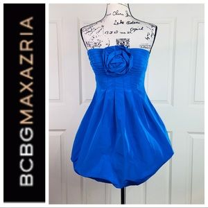 BCBGMaxAzria Satin Bow Cocktail Dress